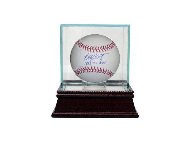 Bobby Shantz signed Official Major League Baseball 1952 AL MVP w/ Glass Case