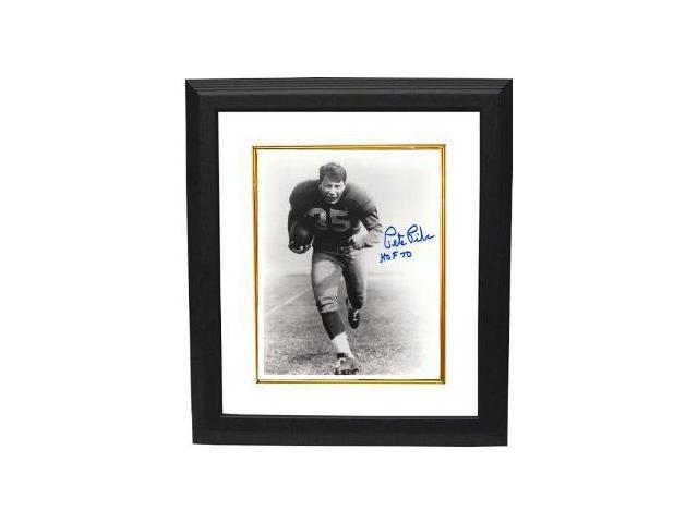 Pete Pihos signed Philadelphia Eagles 8x10 Photo Custom Framed HOF 70