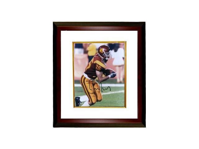 Justin Fargas signed USC Trojans 8x10 Photo Custom Framed