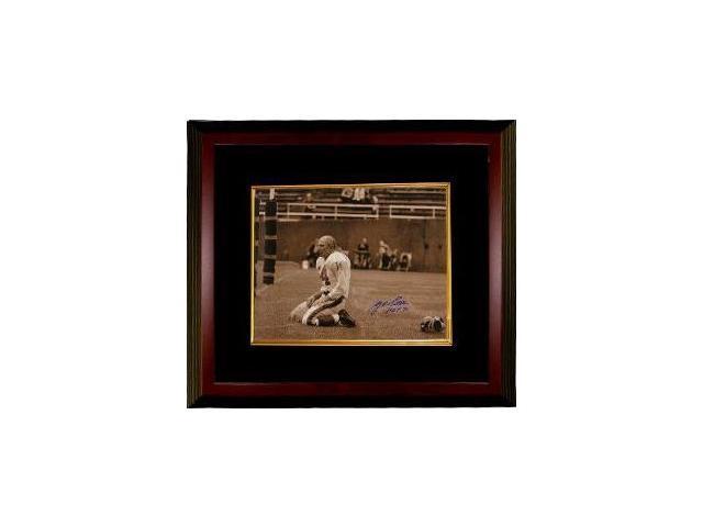 Y.A. Tittle signed New York Giants Blood 16x20 (Sepia) Photo HOF 71 Custom Framed