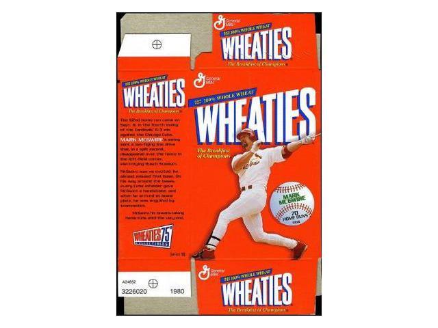 Mark McGwire unsigned Mini Wheaties Box (Flat) Commemorative Box unused