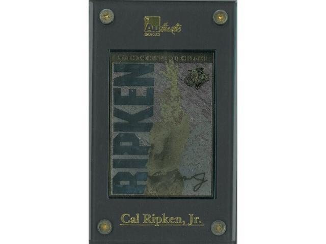 Cal Ripken, Jr. unsigned Baltimore Orioles 24 Karat Gold Signature Card 2131 Consecutive Games- LTD