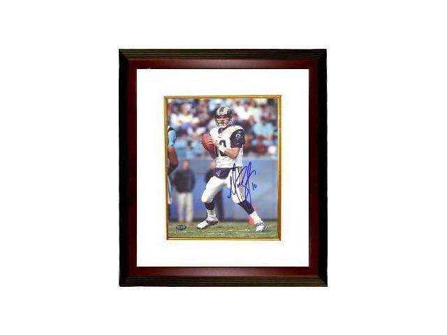 Marc Bulger signed St. Louis Rams 8x10 Photo Custom Framed