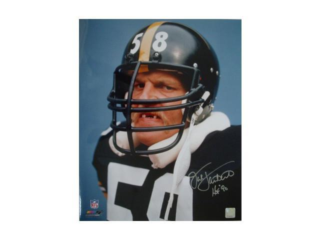 Jack Lambert signed Pittsburgh Steelers 16x20 Photo Tooth HOF 90- Lambert Hologram