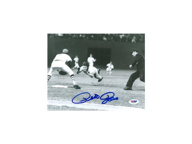 Pete Rose signed Cincinnati Reds 8x10 Photo- PSA Hologram