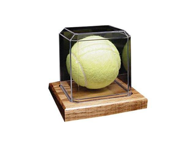 Tennis Ball unsigned Display Case with Wood Base