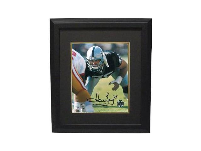Howie Long signed Oakland Raiders 8x10 Photo Custom Framed