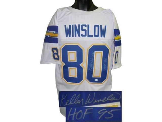 Kellen Winslow signed San Diego Chargers White TB Prostyle Jersey HOF 95- JSA Hologram