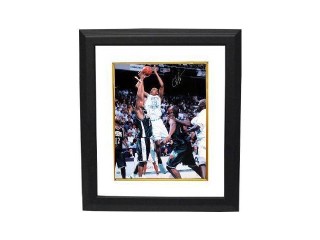 Vince Carter signed North Carolina Tar Heels 8X10 Photo Custom Framed- Tri-Star Hologram