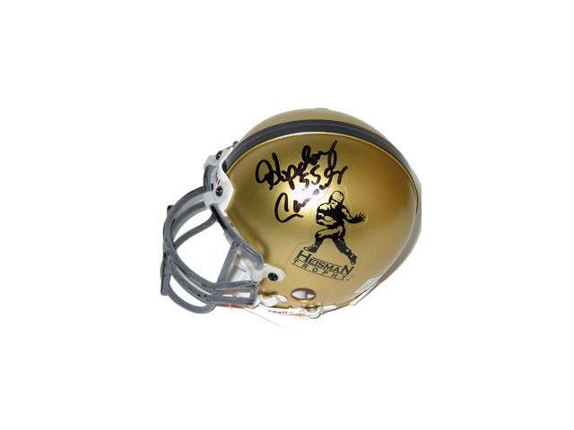 Hopalong Cassady signed Gold Heisman Authentic Mini Helmet