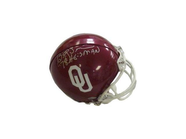 Billy Sims signed Oklahoma Sooners Mini Helmet 78 Heisman