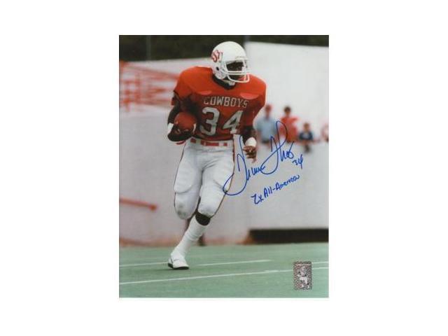 Thurman Thomas signed Oklahoma State Cowboys 8x10 Photo 2x AA