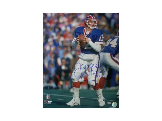 Jim Kelly signed Buffalo Bills 16x20 Photo HOF 02- Kelly Hologram