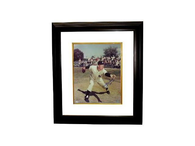 Whitey Ford signed New York Yankees 16x20 Photo HOF74 Custom Framed