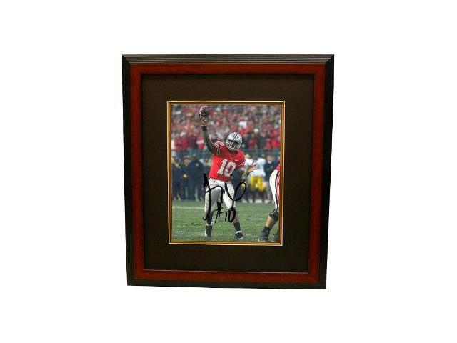 Troy Smith signed Ohio State Buckeyes 16X20 Photo Custom Framed