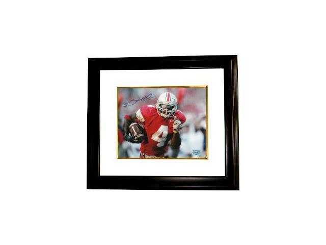 Santonio Holmes signed Ohio State Buckeyes 8x10 Photo Custom Framed