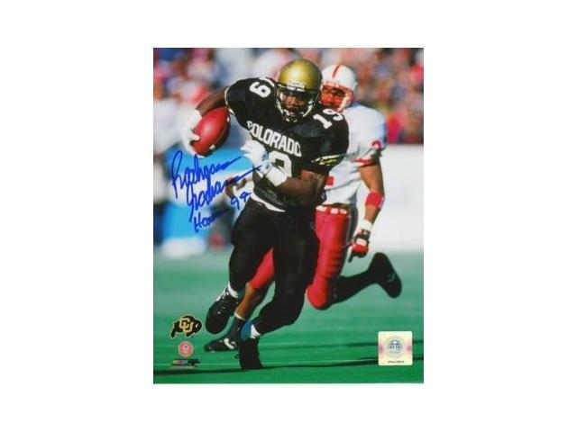 Rashaan Salaam signed Colorado Buffaloes 8x10 Photo Heisman94