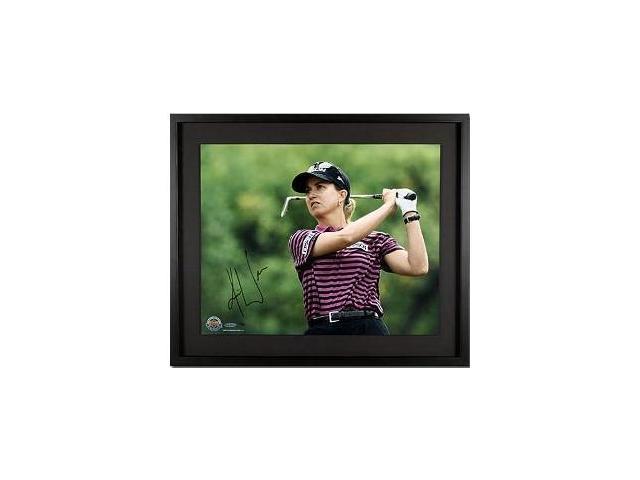 Karrie Webb signed LPGA 16x20 Photo Custom Framed- UDA Hologram