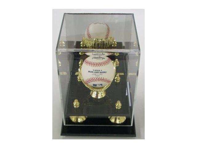 Baseball Large Deluxe Gold Glove Mirror Back Display Case
