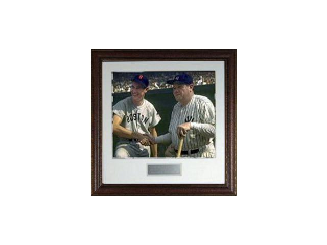 Babe Ruth unsigned 16X20 Custom Leather Framed