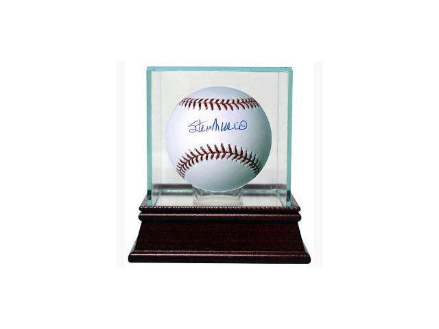 Stan Musial signed Official Major League Baseball w/ Glass Case