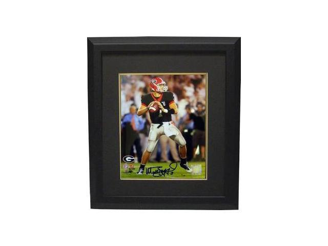 Matthew Stafford signed Georgia Bulldogs 8x10 Photo Custom Framed- Stafford Hologram