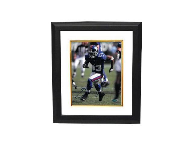 Sinorice Moss signed New York Giants 8x10 Action Photo Custom Framed- Moss Hologram