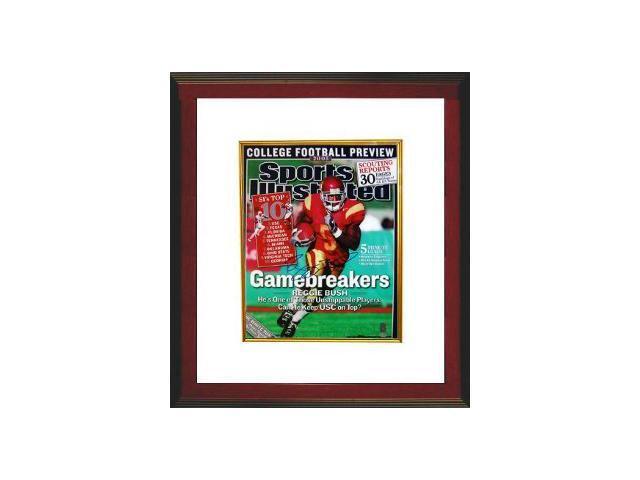 Reggie Bush signed USC Trojans Sports Illustrated 16x20 Photo Custom Framed- Bush Hologram