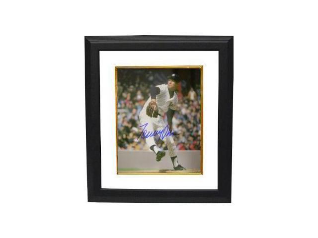 Tommy John signed New York Yankees 8x10 Photo Custom Framed
