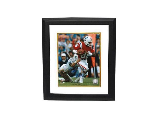 Stanley Morgan signed New England Patriots 8x10 Photo Custom Framed
