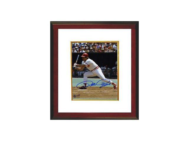 Pete Rose signed Cincinnati Reds 8x10 Photo (Classic Swing) Custom Framed- Mounted Hologram