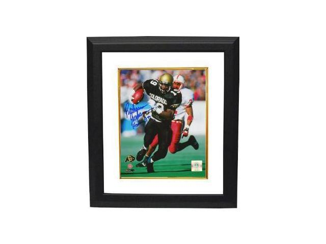 Rashaan Salaam signed Colorado Buffaloes 8x10 Photo Custom Framed Heisman 94