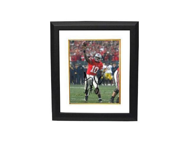 Troy Smith signed Ohio State Buckeyes 16X20 Photo Custom Framed