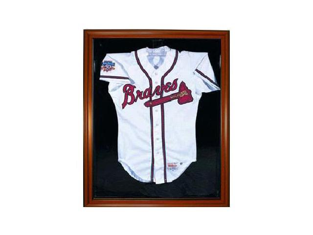 Baseball Jersey Deluxe Full Size Display Case Wood