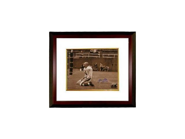 YA Tittle signed New York Giants Blood 16x20 (Sepia) Photo HOF 71 Custom Framed