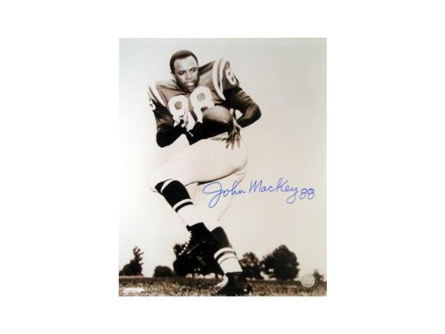John Mackey signed Baltimore Colts 16x20 Photo minor ding