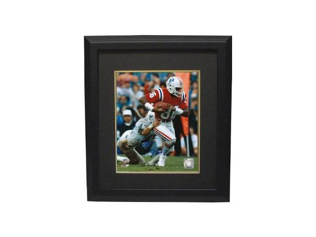 Stanley Morgan signed New England Patriots 8x10 Photo Custom Framed