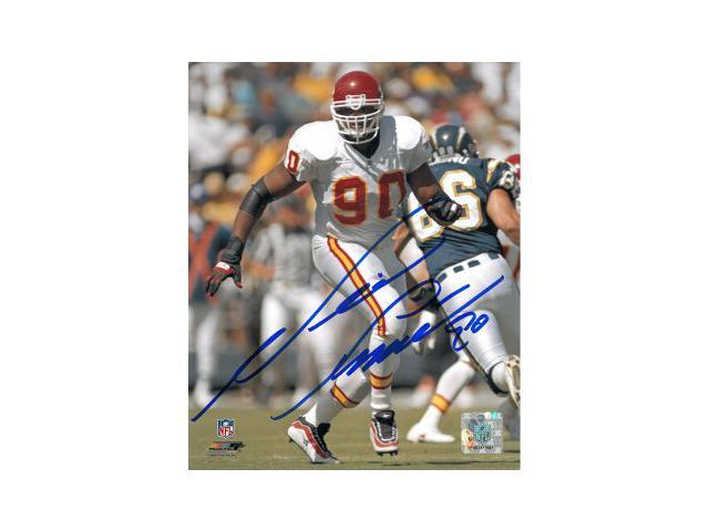Neil Smith signed Kansas City Chiefs 8x10 Photo- Smith Hologram
