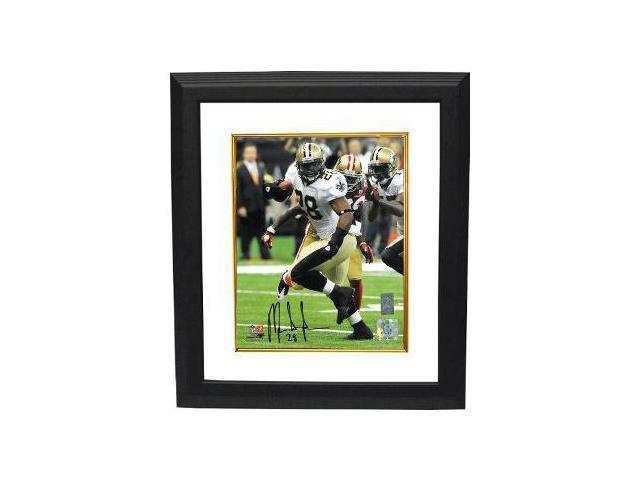 Mark Ingram signed New Orleans Saints 8x10 Photo Custom Framed- Ingram Hologram