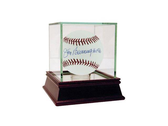 Jim Bunning signed Official Major League Baseball HOF 96 w/Glass Case- Steiner Hologram