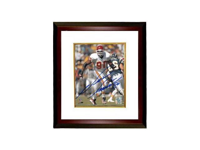 Neil Smith signed Kansas City Chiefs 8x10 Photo Custom Framed- Smith Hologram