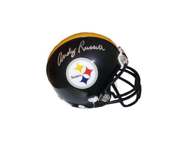 Andy Russell signed Pittsburgh Steelers Replica Mini Helmet