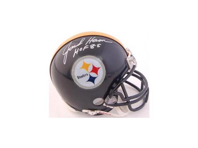 Jack Ham signed Pittsburgh Steelers Replica Mini Helmet HOF 88- JSA Hologram