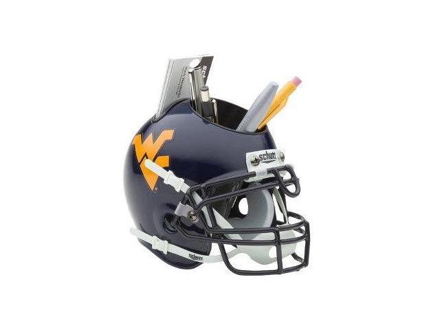 West Virginia Mountaineers NCAA Football Schutt Mini Helmet Desk Caddy