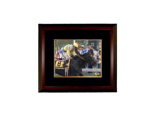 Pat Day signed Preakness Stakes at Pimlico Horse Racing 16x20 Photo Custom Framed w/Valenzuela