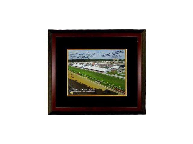 Ronnie Franklin signed Preakness Stakes Winners Pimlico Race Course Horse Racing 16x20 Photo Custom Framed w/ 6 Sig
