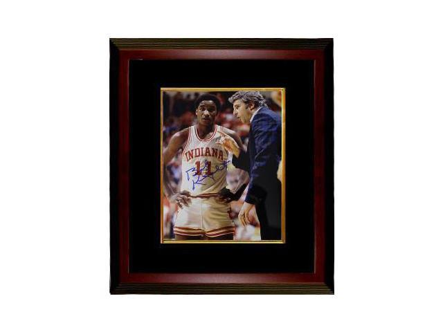 Bobby Knight signed Indiana Hoosiers 8x10 Photo Custom Framed 1981 National Champs)- Steiner Hologram