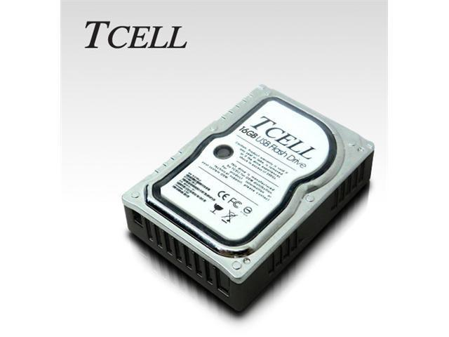 TCELL XS Mini Hard Disk USB 2.0 Flash Drive - 16GB - Silver