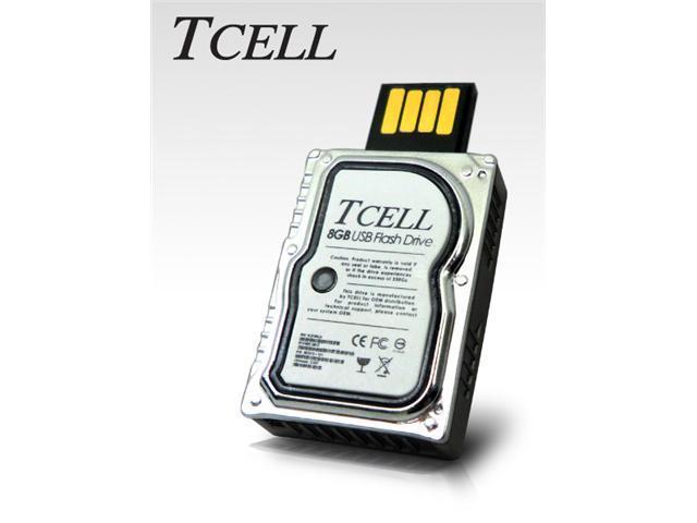 TCELL XS Mini Hard Disk USB 2.0 Flash Drive - 16GB - Silver
