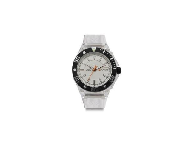 Avalanche 42mm Silicon Power Watch White AV-106S-CLWH